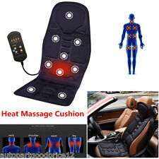 Universal Autos Car Seat Chair Heat Massage Cushion Neck Pain Lumbar Support Pad