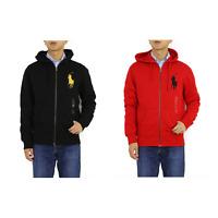 Polo Ralph Lauren Big Pony Zip Hooded Hoodie Sweatshirt Jacket -- 2 colors --