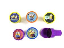 5PCS MINIONS SELF INK STAMPS STAMPER KIDS STATIONERY PARTY BAG #B
