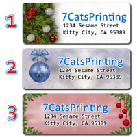 30 Christmas Card Address Labels Custom Presents To From Gift Stickers