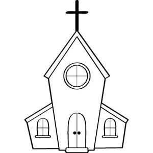 'Church' Unmounted Rubber Stamp (RS004508)