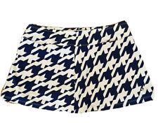 JoFit Size Lg Golf Skort Skirt Navy White Large Houndstooth Print