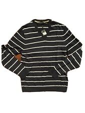 NEW ESPRIT cotton sweater, womens size M, black with white stripes