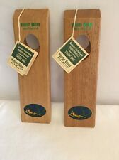 Vtg Wine Bottle Stand Tassie Oak Single Bottle Holder Hunter Valley Australia Ad