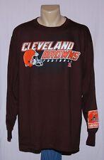 Cleveland Browns Football Long Sleeve T-Shirt Brown LRG - NFL Team Apparel