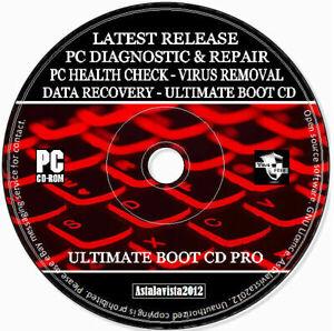 PC Diagnostician Health Check Repair Rescue Data Recovery Virus Removal PC CD