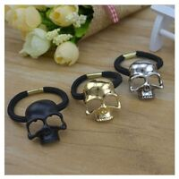 Girl Ponytail Rope Metal Skull Women Hairband Elastic Hair Rope