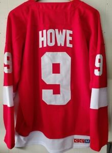 NWT Gordie Howe #9 Detroit Red Wings Throwback Jersey CCM Size Large (50) 🔥