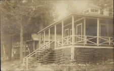Belgrade Lakes ME Crystal Spring Camps c1915 Real Photo Postcard