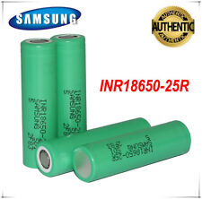 4 X Authentic Samsung 25R 18650 2500mAh 20A Rechargeable Battery