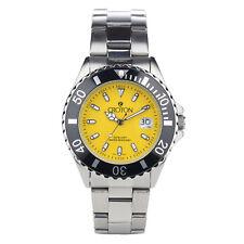 Croton Quartz Men's CA301295BKYL Quartz Date Silver-Tone Bracelet 42mm Watch
