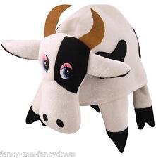 Hombre Mujer Blanco y Negro Vaca Animal Toro Disfraz Sombrero Novedad