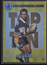 Allan Langer 1994 Season NRL & Rugby League Trading Cards