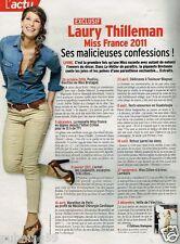 Coupure de Presse Clipping 2012 (1 page) Laury Thilleman Miss France 2011