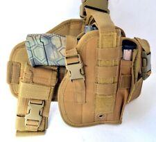 Tactical Drop Leg Thigh Gun Pistol Holster Color Glock Sig H&K S&W (Tan Desert)