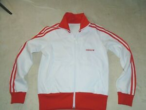 ADIDAS RETRO 2004 TRACK TOP TRACKSUIT JACKET WHITE RED SIZE 14 WOMENS