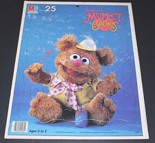 Vintage 1984 Jim Henson's MUPPET BABIES FOZIE BEAR Frame Tray Puzzle 100%!!