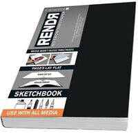 "Crescent Rendr No Show Thru Lay Flat Sketchbook 3.5x5.5"" (48 sheets)"