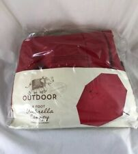World Market 9 ft. Umbrella Outdoor Canopy Brand New!  Barbados Cherry