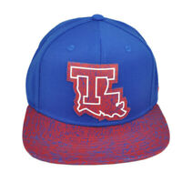 NCAA Adidas Louisiana Tech Bulldogs 149VZ  Flat Bill Adidas Hat Cap Snapback