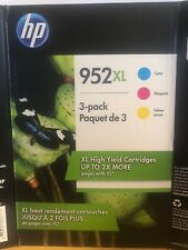 HP 952XL Original High Yield Color Ink Cartridges (3 Pack) *NEW/UNOPENED*