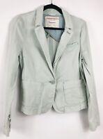 Cartonnier Anthropologie Blazer Size Med Blue Aqua Seafoam Jacket