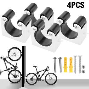 4x Bike Rack Hook Storage Steel Wall Mounted Hanger Hanging Stand Bicycle Holder