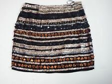 Womens Skirts medium M Gianni Bini Black  Ruby Glitz Pelican 100 % Polyester
