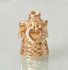 Ángel de Oro Chapado en oro del encanto del corazón para Pulseras & Collares