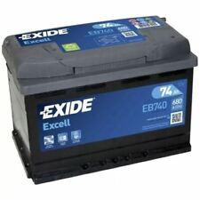 Batería EXIDE Excell EB740 12V 74Ah 680A Compatible VARTA E11 TUDOR TB740