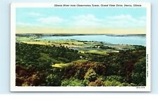 *Illinois River Observation Tower Grand View Drive Peoria Illinois Postcard C67