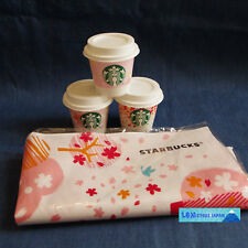 F/S Starbucks JAPAN SAKURA 2018 cherry blossom Kitchen cloth & 3 pudding case