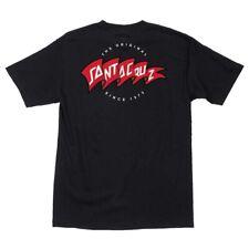 Santa Cruz Banner Skateboard T Shirt Black Xl