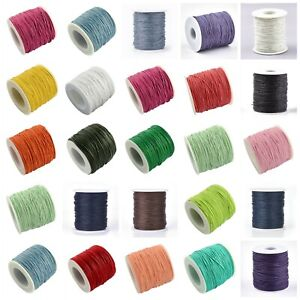 Waxed Cotton Cord 1mm x 10 Metres BUY 4 GET 4 FREE