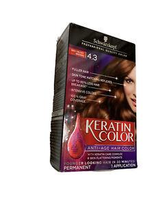 (5)Schwarzkopf Keratin Anti-Age Hair Color Kit Red Velvet Brown 4.3 New In Box