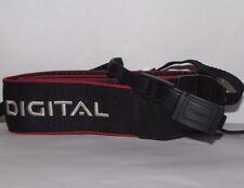 "Canon EOS Digital Camera Strap 1.5"" Wide Black-Red - Worldwide"