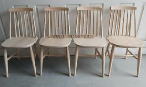 Chair SOLID BEECH Modern Atom Scandinavian kitchen dining Retro