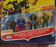 Mighty Minis Dc Justice League Action 3 Pack Superman Hawkman Lobo New