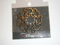 """The Disney Store Mickey Icon Domed Gold tone Brooch Pin - 2.10"""" Round"""