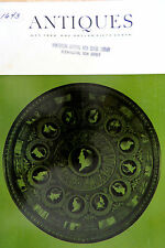 The Magazine ANTIQUES MAY 1966 CISTERN NE GLASS CO MARKINGS ORIENTAL PORCELAIN,