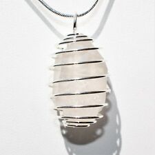 "CHARGED Herkimer Diamond Quartz Perfect Pendant™ + 20"" Silver Chain SYN 12"
