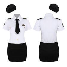 Halloween Princess Fancy Dress Costume Women's Maid Officer Sailor Nurse Uniform