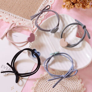 High Elastic Heart Rubber Band Small Fresh Ponytail Hair Rope Suitable for Girl