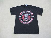 Lamb Of God Shirt Adult Medium Black Red Band Rock Concert Music Mens *