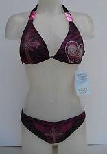 Sinful by Affliction Rhinestones Piramid Swimwear Bikini Size Size X-SMALL/SMALL