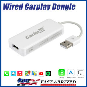 USB Dongle Adapter Carplay For Apple iPhone Android Auto Radio Nav Music Player