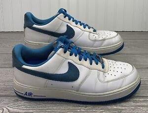 Nike Air Force 1 Blue/White C Low Top Lace Up Sneakers Sz 10.5