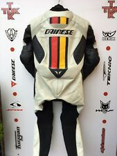 Dainese Jack F retro cafe Racer 1 piece race suit with hump uk 40 euro 50
