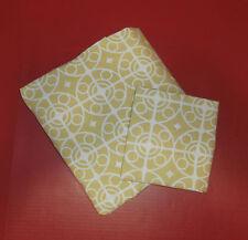 "Crate & Barrel Twin Duvet Cover Pillow Sham 66"" x 86"" 100& Cotton Taza Citron"