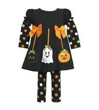 New Bonnie Jean Girl Ghost Pumpkin Halloween Fall Dress Leggings Outfit 3-6 MO